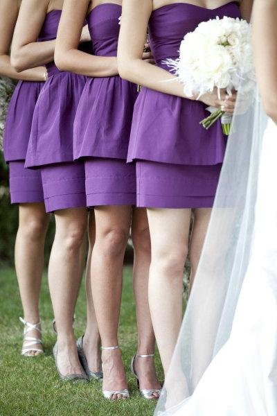 сиреневые платья для подружек невесты