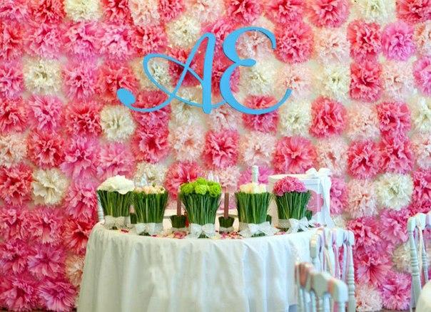 свадебное оформление стола молодых