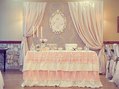 оформление свадебного стола молодоженов