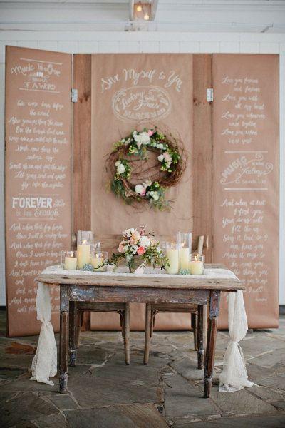идеи оформления свадебного стола