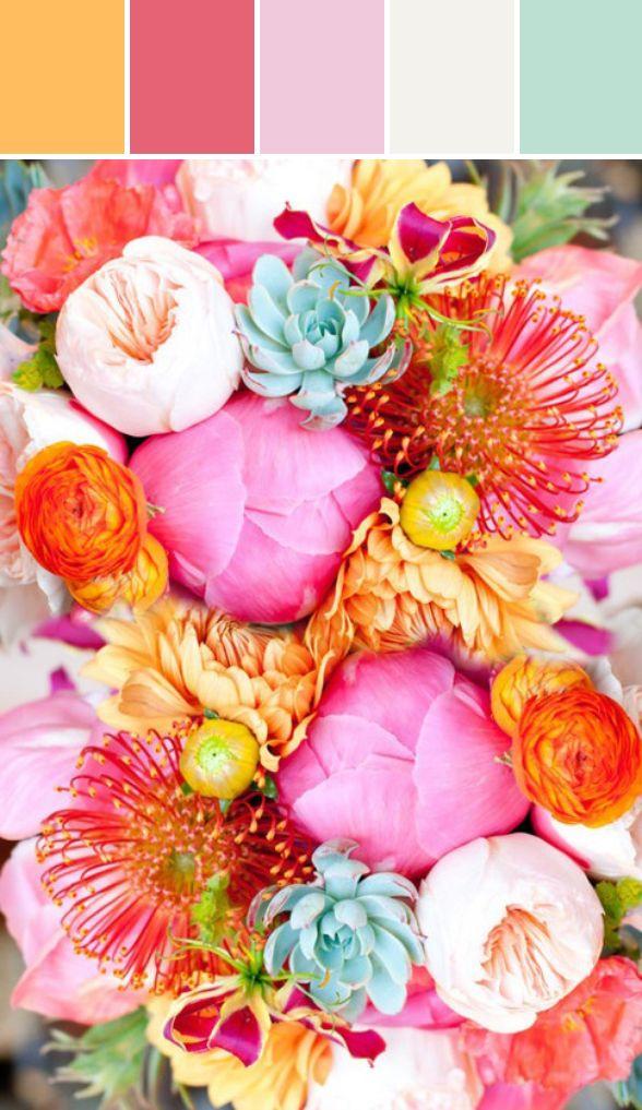 10 сочных цветовых сочетаний для весенней свадьбы