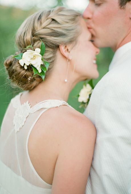 Французская коса на свадьбу