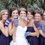 Зимний образ подружки невесты