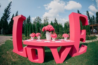 свадьба в стиле лав ис