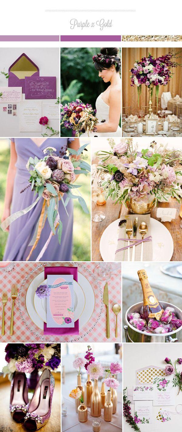 Свадебные цветовые палитры с золотом