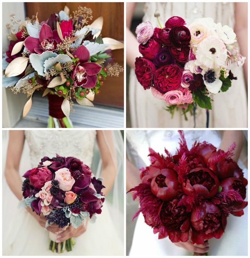 Бордовый цвет для свадьбы