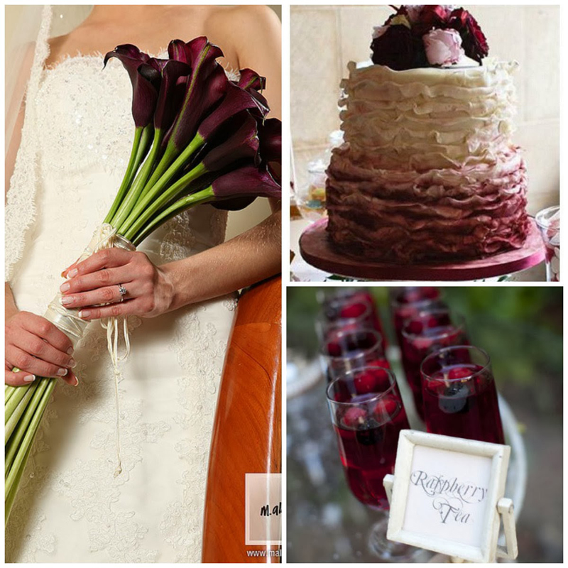 Цвет свадьбы: роскошный бургунди