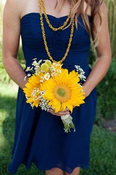 Желто-синяя свадьба