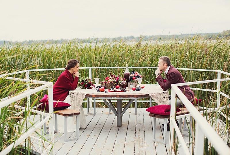 Изысканная бордовая свадьба Татьяны и Антона