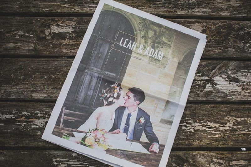 Свадебная газета: идеи и примеры