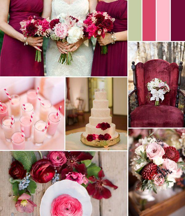 Autumn pink wedding