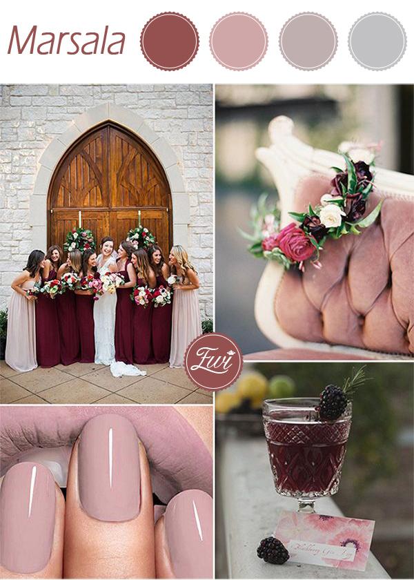 Цвет свадьбы: осень 2015