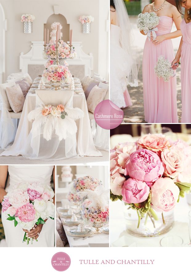 Pink fall wedding
