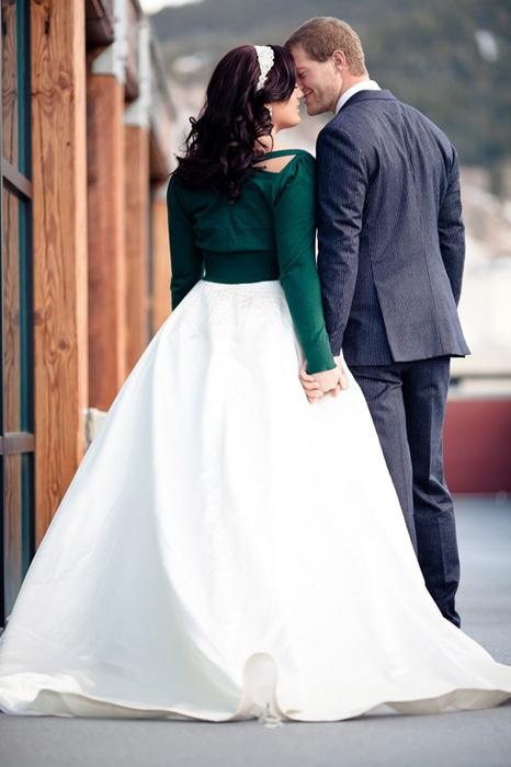 Зимний образ невесты