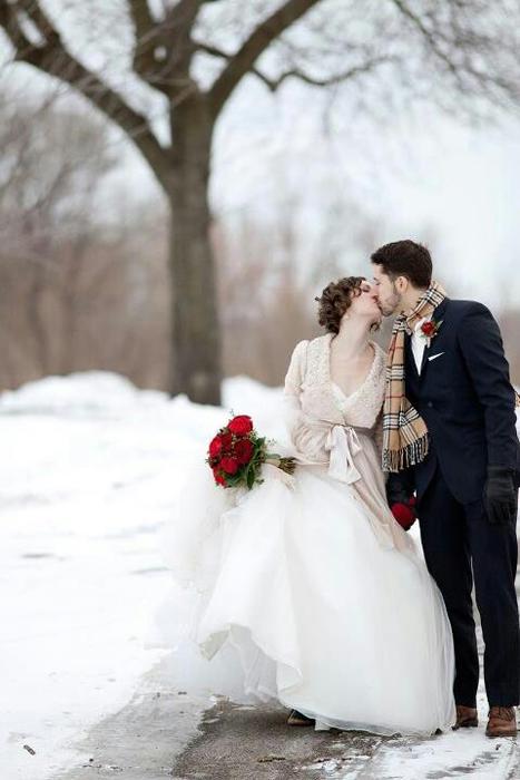 Зимний образ жениха