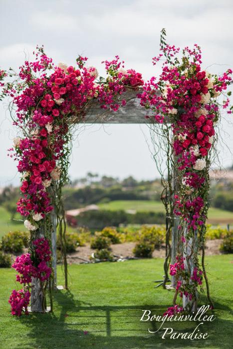 Свадебные арки, украшенные цветами