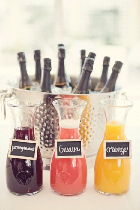 Мимоза-бар на свадьбе