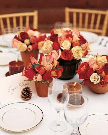 Идеи по оформлению свадебного стола осенью