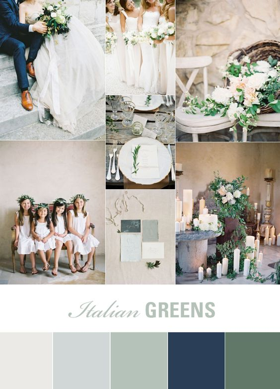 Olive and rust wedding
