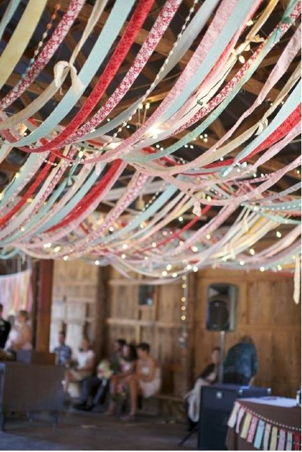 Ленты в оформлении свадьбы